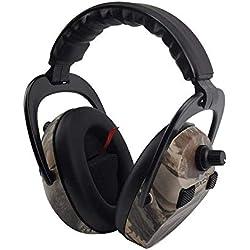 Protectores auditivos electrónicos para disparar y cazar, protear Protectores oculares profesionales con reducción y reducción de ruido-- NRR 23 dB