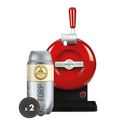 Birra Moretti THE SUB Set Spillatura Domestica   THE SUB Spillatore Birra da Casa, Edizione Rouge   2 x TORP Birra Moretti Fustini di Birra da 2 Litri