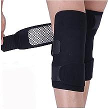1–Rodilleras (2unidades) versión actualizada Autocalentamiento terapia Magnética Resistente al frío calefacción Pad infrarrojo lejano espontánea Brace apoyo (negro)