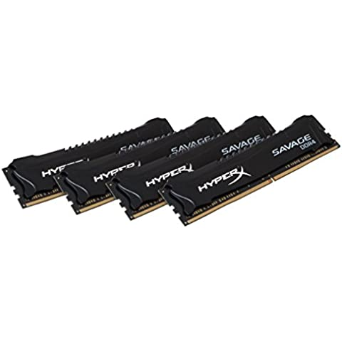HyperX Savage HX428C14SBK4/16 XMP Memoria da 16 GB, 2800 MHz, DDR4, CL14 DIMM, Kit (4x4 GB), Nero - 16 Kit