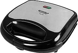 Maharaja White Line Viva Dlx 700-Watt Sandwich Toaster (Premium Black and Silver)
