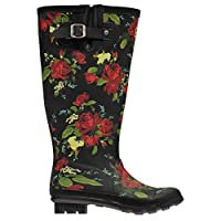 Kangol Womens Tall Wellies Wellingtons Slip On Padded Ankle