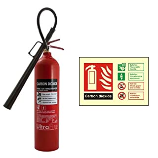 5kg CO2 Fire Extinguisher & Carbon Dioxide ID Sign- A2Z Fire Safety
