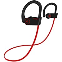 Ecouteur Bluetooth V4.1,Arbily Sport ¨¦couteurs Oreillette Bluetooth Sport Casque Bluetooth Intra- Auriculaire Audio Bruit Isol¨¦ St¨¦r¨¦o Headphone Imperm¨¦able avec Micro pour Jogging Pour iOS Android(Black)