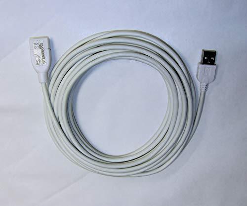 Spartechnik Hi-Speed USB 2.0 Verlängerungskabel 6m weiß USB Stecker TYP A Kupplung A - Extension Cable - weisses USB Verlängerung 6 Meter - High-Speed Kabel - White (Weiß Usb Kabel 12)