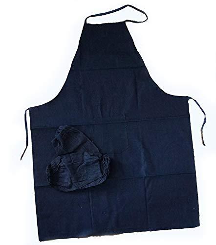 Strapazierfähige Unisex Denim Kochen/Backen/Art Kochschürze und 1 Paar Denim Hülle Armtasche Protektoren - Tools Künstler Malen
