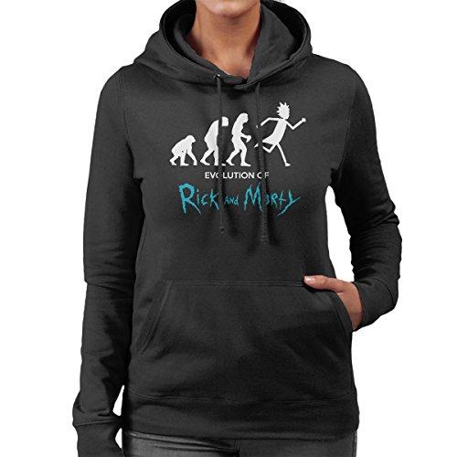 Evolution Of Rick And Morty Women's Hooded Sweatshirt Black