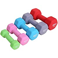 ResultSport® Neoprene Dumbbells (Boxed in Pair) (Choose of 1KG, 2KG, 3KG, 4KG, 5KG) for Home Gym Exercise, Fitness and Weights for Women and Men Anti-Rolled dumbells