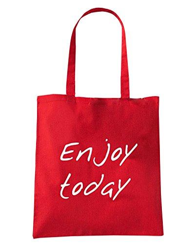T-Shirtshock - Borsa Shopping ENJOY0095 Enjoy today Rosso