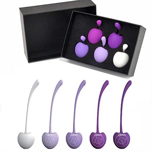 *Set von 5 Premium Liebeskugeln für Frauen Beckenboden – Medizinische Silikon Kegel Übungsbälle*