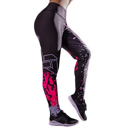 Sumeiwilly Leggings Frauen Damen Gedrucktes Sport Gymnastik Yoga Laufende Eignungs Gamaschen Hosen hohe Elastizität Athletische Hosen (Athletisch Frauen Shorts)