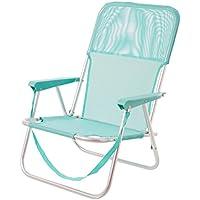 Silla plegable para playa pop de aluminio verde Garden - Lola Home