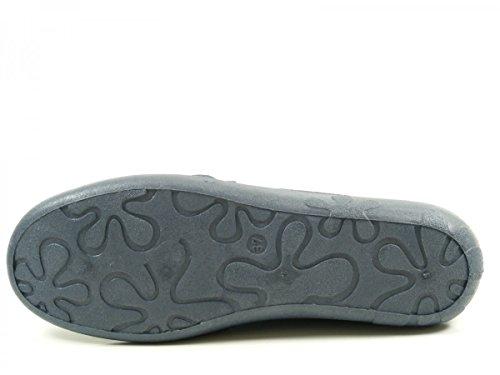 Rohde Ballerup 2228-56 Pantofole Donna Lana Larga G Blu