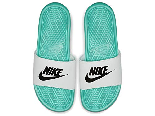 Nike Benassi JDI, Ciabatte Uomo, Bianco (White/Black 100), 42.5 EU