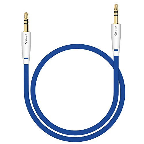 Act Sony Xperia Z5 Compact Anti-Tangle 3,5mm Stereo-Kabel 1 Meter Auxiliary lead Zusatzkabel Klinke-auf-Klinke Buchse zu Buchse Flachkabel Audio-Verlängerungskabel Input von Gadget Blau -