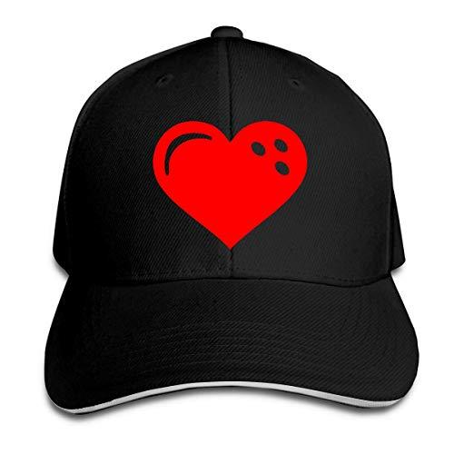 dfjdfjjgfhd Men's Women's Bowling Ball Heart Trucker Cap Baseball Kappe Opa Womens Cap