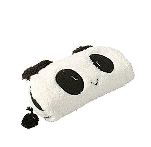 eutel Nette Panda Pattern Plüsch Material Stifttasche, Weiße Farbe Büromaterial, auch Tasche für die Aufbewahrung von kleinen Sachen oder Kosmetik Tools ()