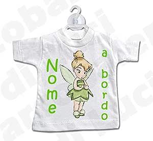 01 LArcobaleno di Luci Mini T-Shirt Bimbo A Bordo Con principesse e Nome Bimba
