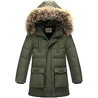 Zoerea Jungen Daunenjacke Winterjacke Mantel mit Kapuze Verdicken Schneeanzug Warm Kinder Trenchcoat Winter Oberbekleidung Kleidung