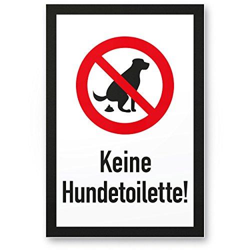 Keine Chien Toilette Portrait (20x 30cm), panneau Chien T-shirt Panneau d'interdiction interdit–Panneau d'interdiction/chien, des crottes de chien/de chien/tas de chien/chien kacke