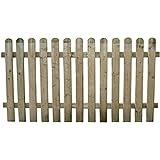 Staccionata in legno di pino per recinto giardino Cm 180x100