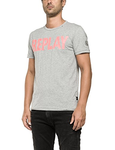 Replay -  T-shirt - Maniche corte  - Uomo Grigio Grau (MEDIUM GREY MELANGE M04) 3xl