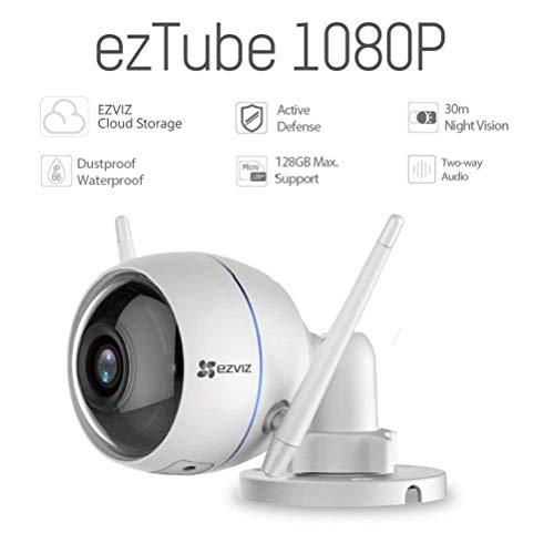 EZVIZ ezTube 1080p Telecamera di Sorveglianza Esterna, con Visione Notturna, WiFi, IP66...