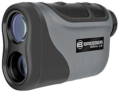 Bresser 6x25 Laser Entfernungsmesser/Geschwindigkeitsmesser mit hoher Messgenauigkeit und Geschwindigkeitsmessung bis 300 km/h inklusive Stativanschlussgewinde und Tasche