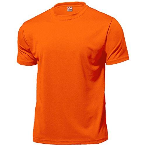 wundou Herren Dry Licht Sport T-Shirts P330 XXXXL neon-orange (Wie Man Guten Tee)