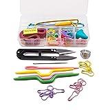 ToGames-ES Kit Desmontable de Calidad para el hogar Herramientas para el hogar Kit de Crochet 58 Piezas