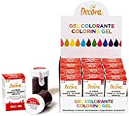 Decora 9600810 Gel Colorante Decora Rosso 28 G