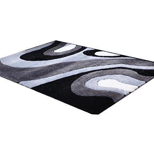 CYALZ Polyester Grau Schwarz Weiß Blumenmuster Modern Einfach Stripe Style Home Textilien...