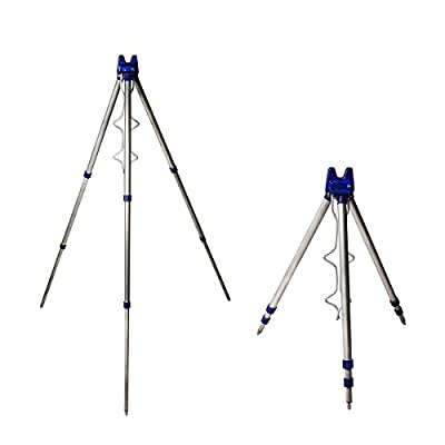 EZI Fishing Rods Tripod Stand Rest for Sea Beach Shore Pier Tackle Telescopic by EZI