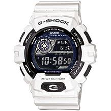 Casio G-SHOCK - Reloj digital de caballero de cuarzo con correa de resina blanca (alarma, cronómetro, luz, solar) - sumergible a 200 metros