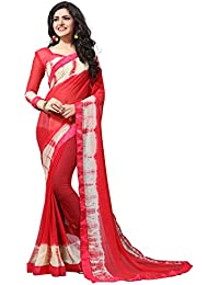 Fab Valley Women's Georgette Shibori Print Saree With Blouse Piece (Multi Color)