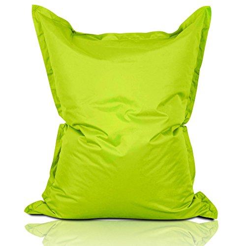Lumaland Sitzsack 380L / 140 x 180 cm für Indoor & Outdoor | Riesensitzsack Sitzkissen Sessel Gamer Stuhl Bean Bag für Kinder & Erwachsene - Apfelgrün