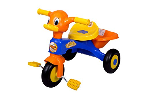 EZ' PLAYMATES KIDS DUCK TRICYCLE BLUE/ORANGE
