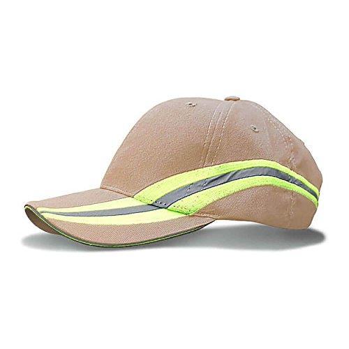 Black Fire Hat (FEUERWEHR Base-Cap gold - Reflexstreifen Style)