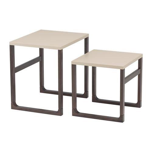 RISSNA–Nest von Tabellen, Beige, 2Stück