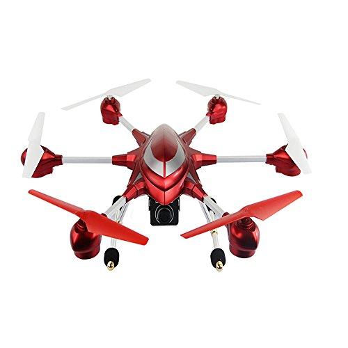 Webetop HJ816 2.4GHz Headless Modus 1 Schlüssel zur Funktion FPV Rot Hexacopter Drohne mit HD Kamera, Legierung