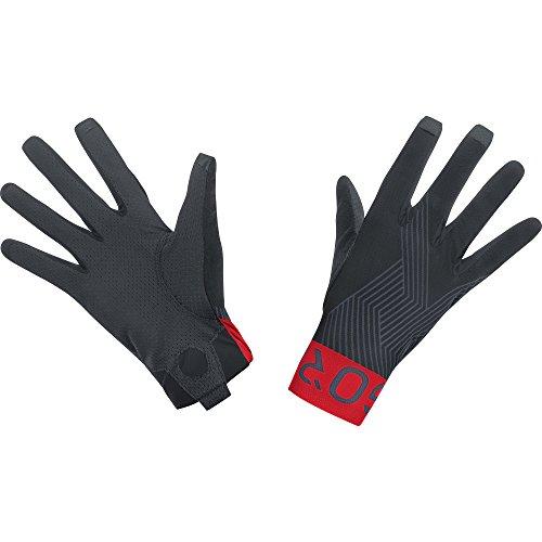 GORE Wear Atmungsaktive Unisex Mountainbike-Handschuhe, C7 Pro Gloves, Größe: 10, Farbe: Schwarz/Rot, 100117