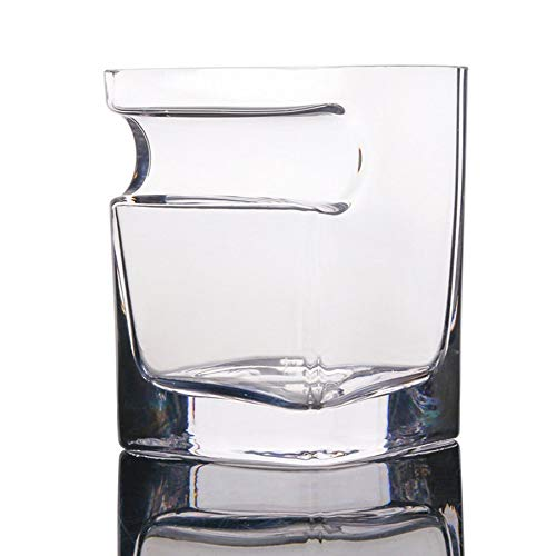Lovelysunshiny bicchiere da whisky creativo in vetro di sigari con supporto per sigari