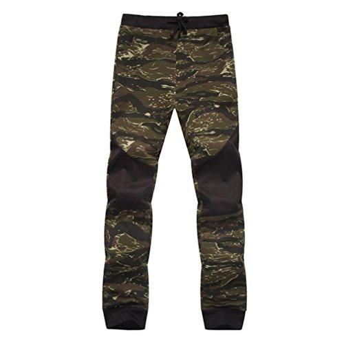 Pantalons de Survêtement, Malloom Homme Printemps Pantalon de Jogging Casual Camouflage