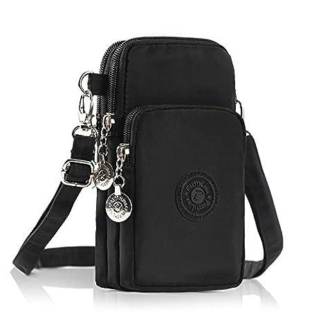 Phone Tasche, M.Way verstellbar schultergurt Tasche, Mode Nylon Schultertasche ,
