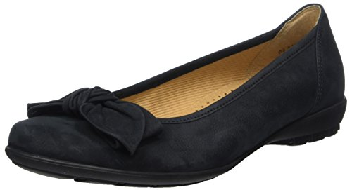 Gabor Gabor Casual, Damen Ballerinas, Blau (night blue), 35 EU (2.5 UK) Blue Nubuck Schuhe