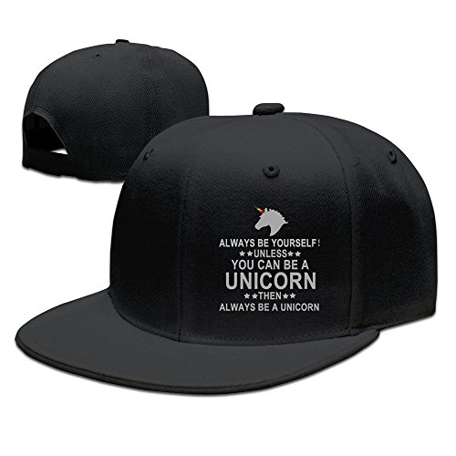 Trithaer Always Be Yourself Unless You Can Be A Unicorn Baseball Snapback Cap Black