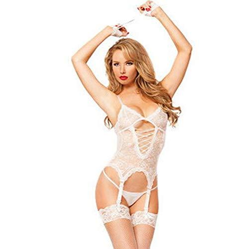 Evbea sexy lingerie hard hot per sesso donna sexy biancheria intima del pizzo teddy lingerie babydoll sexy body da donne completi intimi erotico con coscia alta calze