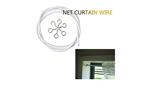 Amazon.de: 1m Wei§-Fenster-Netz Caravan Vorhang Drahtspiralkabel ...