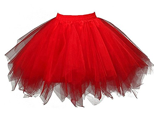 HotQueen Women's 1950s Vintage Tutu Ballet Half Slip Skirt Bubble Dance (Shorts Dance Outfit)