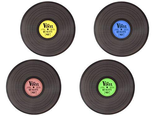 Tischsets Glatte Vinyl (Tischset Vinyl 145088 Tischsets Kunststoff Abwaschbar Plattenspieler Tischunterlage)